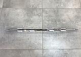 Хром накладка на нижнюю кромку переднего бампера Nissan x-trail t32 2014-2016 (ниссан икс-трейл т32), фото 2