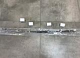 Хром накладка на нижнюю кромку переднего бампера Nissan x-trail t32 2014-2016 (ниссан икс-трейл т32), фото 3