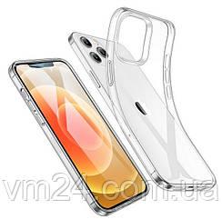 """Ультратонкий силиконовый чехол 0.75mm на iPhone 12/12 Pro (6.1"""") прозрачный"""