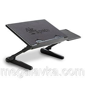 """Регулируемый стол подставка для ноутбука с вентилятором AirSpace до 16"""""""