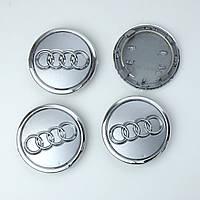 Колпачки в диски AUDI, Заглушки для дисков Ауди 69/57мм (4шт)