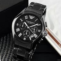 Мужские оригинальные часы Armani черные керамические