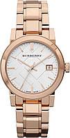 Женские оригинальные часы Burberry розовое золото