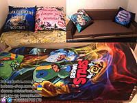 Подушки і плед з принтами Бравл Старс і родинні подушки