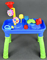 Столик-песочница детский для игр с песком и водой , детский игровой набор для песка