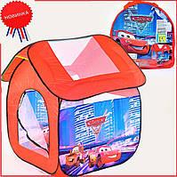Детская игровая палатка домик для мальчика красный Тачки Маквин складной