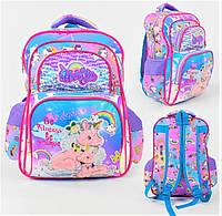 Школьный ортопедический рюкзак с единорогом для девочки розовый , ранец портфель детский с принтом Единорог