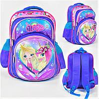 Школьный рюкзак для девочки розовый и голубой, ранец портфель детский с рисунком 3D единорог