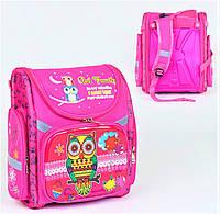 Школьный ортопедический рюкзак для девочки розовый , ранец портфель детский с принтом Сова