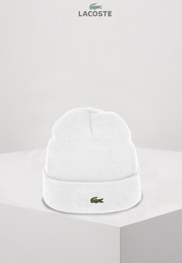 Lacoste шапка унисекс (Белая)