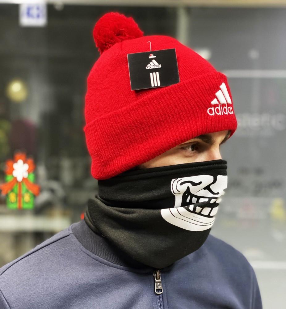 Шапка Adidas classic red