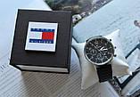 Мужской подарочный набор Tommy Hilfiger часы и ремень total black, фото 5