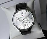 Мужской подарочный набор Tommy Hilfiger кожаный ремень и часы black, фото 3