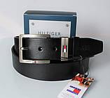 Мужской подарочный набор Tommy Hilfiger кожаный ремень и часы black, фото 4