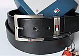 Мужской подарочный набор Tommy Hilfiger кожаный ремень и часы black, фото 6