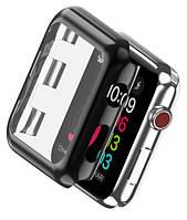 Накладка с встроенным защитным стеклом for Apple Watch 38/42мм Black