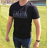 Футболка Calvin Klein Black ( резиновый принт), фото 2