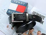 Кожаный стильный ремень Tommy Hilfiger black, фото 2