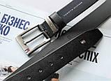 Кожаный стильный ремень Tommy Hilfiger black, фото 4