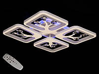 LED люстра с димером и подсветкой S8157/4WH LED 3color dimmer