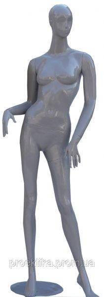DOG-11g Манекен женский стилизованный серый