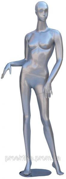 Манекен женский серебристый абстрактный