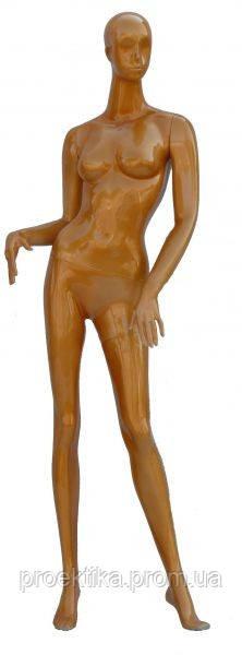 Манекен женский абстрактный золотистый