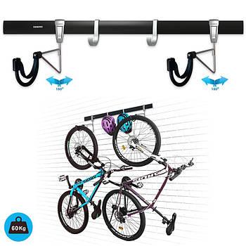 Крепление для двух велосипедов на стену вертикально VL6 Kenovo