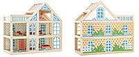 Деревянный Кукольный дом 3 этажа Игрушки из дерева (Д250)