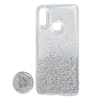 Чехол Fashion popsoket для Samsung A01 (A015) silver
