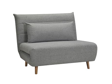 Кресло раскладное SPIKE VELVET серый (Signal), фото 2