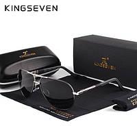 Оригинальные мужские поляризационные очки KINGSEVEN K725 Silver