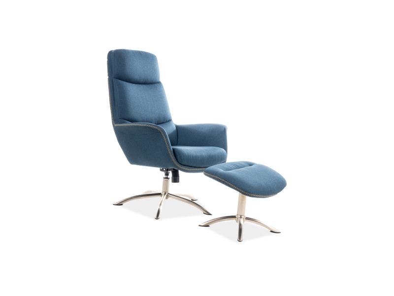 Кресло с подставкой для ног REGAN морской (Signal)