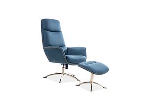 Кресло с подставкой для ног REGAN морской (Signal), фото 2