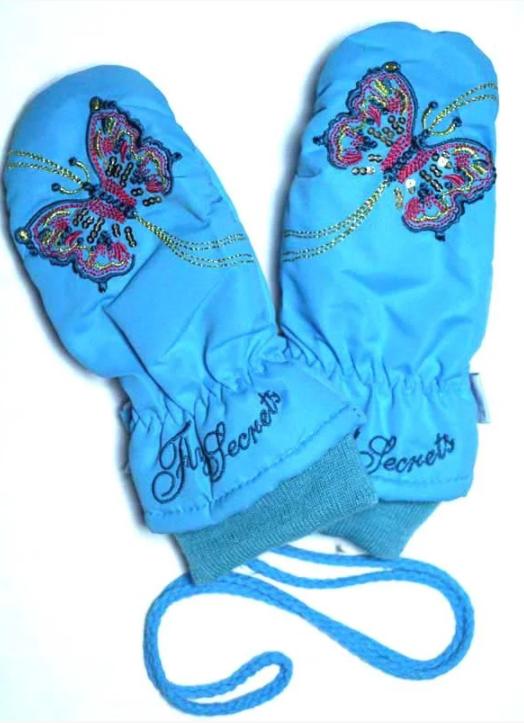 зимние непромокаемые рукавички детские для девочки