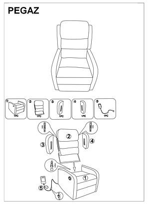 Кресло раскладное PEGAZ серый (Signal), фото 2