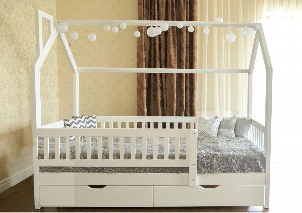 Кровать домик  Викки New 2 ящика , защитные перегородки Venger™