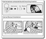 Система контроля давления в шинах TPMS N2102 +  встраиваемые внутренние датчики колес, фото 10