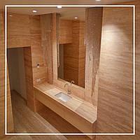 Ванные комнаты, облицованные травертином: хорошая идея или плохая?