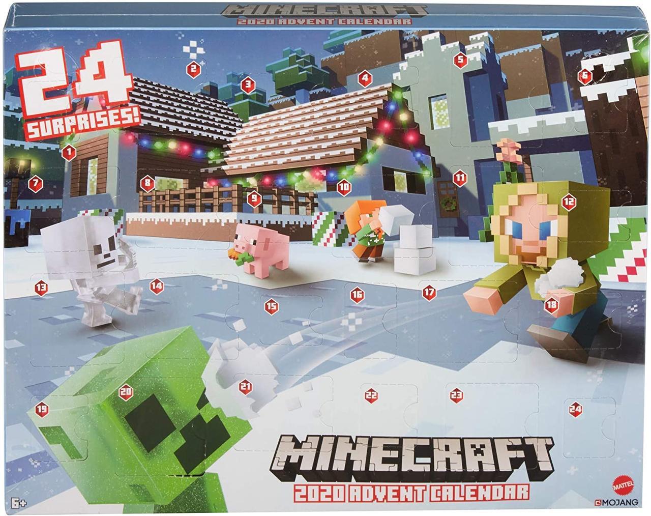 Игровой набор Майнкрафт адвент календарь Minecraft 2020 Advent Calendar