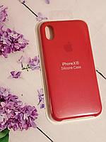 Чехол для iPhone XR бампер Soft Touch красный