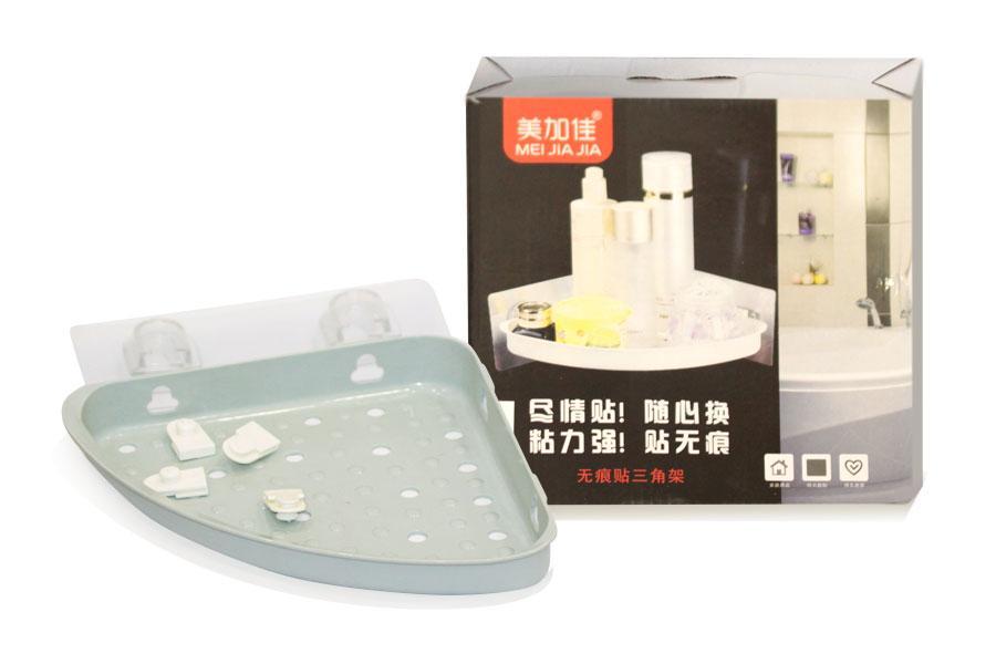 Поличка кутова для ванни, кріпиться на клейку стрічку