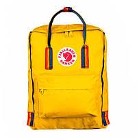 Рюкзак kanken fjallraven оригинал сумка канкен Радуга портфель ранец Rainbow желтый с радужными ручками яркий
