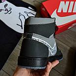 Кроссовки мужские Nike Air Jordan 1 High из коллаборации Диор. Живое фото. Реплика, фото 2