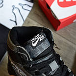 Кроссовки мужские Nike Air Jordan 1 High из коллаборации Диор. Живое фото. Реплика, фото 3