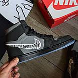 Кроссовки мужские Nike Air Jordan 1 High из коллаборации Диор. Живое фото. Реплика, фото 4