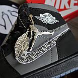 Кроссовки мужские Nike Air Jordan 1 High из коллаборации Диор. Живое фото. Реплика, фото 6