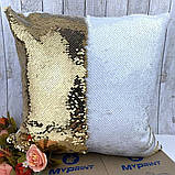 Печать на подушке с паетками, фото 3