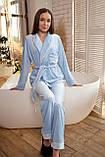 Женская пижама Christel укороченный халат и штыны, фото 3