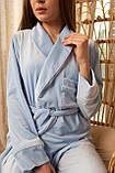 Женская пижама Christel укороченный халат и штыны, фото 6